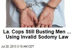 City Still Making Anti-Sodomy Busts