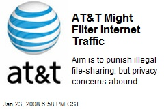 AT&T Might Filter Internet Traffic