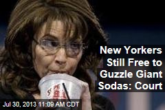 New Yorkers Still Free to Guzzle Giant Sodas: Court