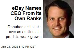 eBay Names CEO From Its Own Ranks
