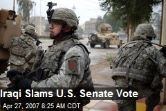 Iraqi Slams U.S. Senate Vote