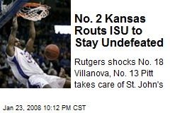 No. 2 Kansas Routs ISU to Stay Undefeated