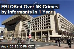 FBI OKed Over 5K Crimes by Informants in 1 Year