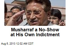 Musharraf a No-Show at Murder Indictment