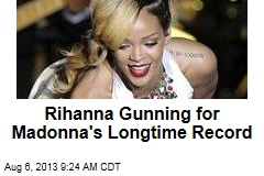 Rihanna Gunning for Madonna's Longtime Record