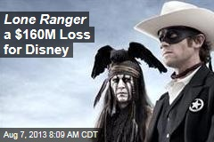 Lone Ranger a $160M Loss for Disney