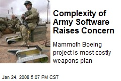 Complexity of Army Software Raises Concern