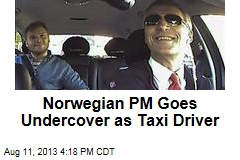 Norwegian PM Goes Undercover as Taxi Driver