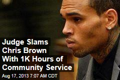 Judge Slams Chris Brown With 1K Hours of Community Service