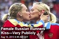 Gay-Rights Protest? Russian Runners Kiss