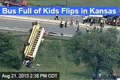 Bus Full of Kids Flips in Kansas