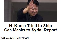 N. Korea Tried to Ship Gas Masks to Syria: Report