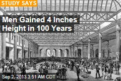 Men Gained 5 Inches Height in 100 Years