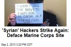 'Syrian' Hackers Strike Again: Deface Marine Corps Site