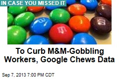 To Curb M&M-Gobbling Workers, Google Chews Data