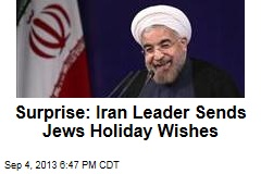 Surprise: Iran Leader Sends Jews Holiday Wishes
