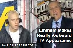 Eminem Makes Really Awkward TV Appearance