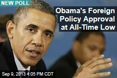 Obama's Foreign Policy Approval at All-Time Low