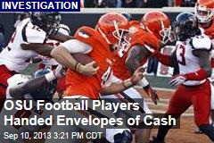 OSU Football Players Handed Envelopes of Cash