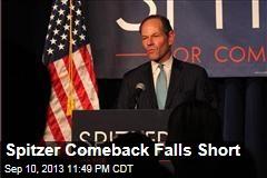 Spitzer Comeback Bid Fails