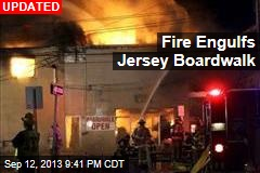 Fire Engulfs Jersey Boardwalk