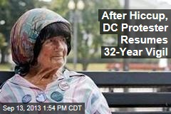 After Hiccup, DC Protester Resumes 32-Year Vigil