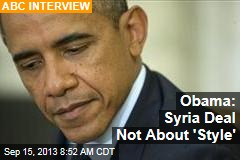 Obama: Syria Deal Not About 'Style'