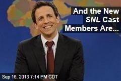 And The New SNL Cast Members Are...
