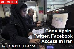 Twitter, Facebook Back Online in Iran