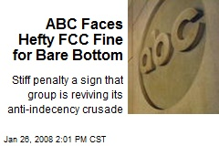 ABC Faces Hefty FCC Fine for Bare Bottom