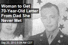 Woman to Get 70-Year-Old Letter From Dad She Never Met