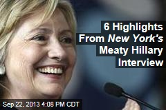 Hillary: I'm in No Hurry to Decide on 2016