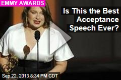 Is This the Best Acceptance Speech Ever?