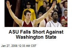 ASU Falls Short Against Washington State
