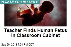 Teacher Finds Human Fetus in Classroom Cabinet