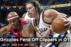 Grizzlies Fend Off Clippers in OT