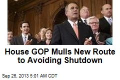House GOP Mulls New Route to Avoiding Shutdown