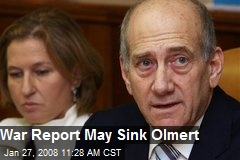War Report May Sink Olmert