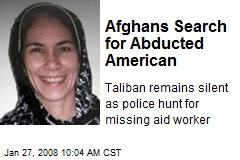Afghans Search for Abducted American