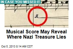 Musical Score May Reveal Where Nazi Treasure Lies