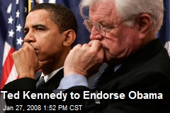 Ted Kennedy to Endorse Obama