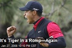 It's Tiger in a Romp—Again
