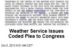 Weather Service Issues Coded Plea to Congress