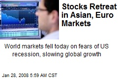 Stocks Retreat in Asian, Euro Markets