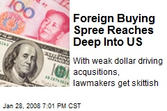 Foreign Buying Spree Reaches Deep Into US