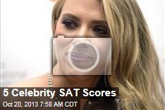 5 Celebrity SAT Scores