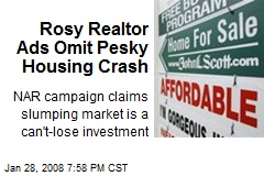 Rosy Realtor Ads Omit Pesky Housing Crash
