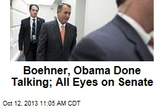Boehner, Obama Done Talking; All Eyes on Senate