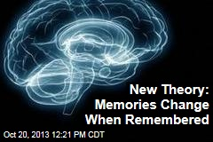New Theory: Memories Change When Remembered