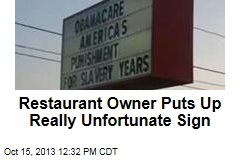 Restaurant Owner Puts Up Really Unfortunate Sign
